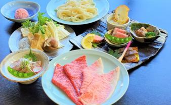 佐五郎 山形牛すき焼き 赤身とロースの食べ比べコース